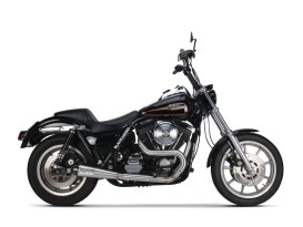 Comp-S 2-into-1 Exhaust - Stainless Steel with Carbon Fiber End Cap. Fits FXR 1987-1994.
