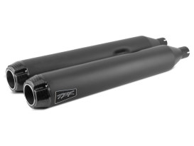4in. Slip-On Mufflers - Black with Carbon Fiber End Caps. Fits Touring 2017up.
