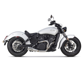 Stainless Steel Comp-S 2-into-1 Exhaust with Carbon Fiber End Cap. Fits Indian Scout 2017up