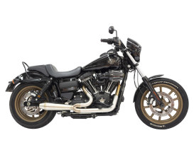 Stainless Steel Megaphone Gen II 2-into-1 Exhaust. Fits Dyna 2006-2017
