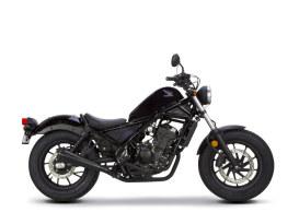 Black Comp-S Slip-On Muffler with Carbon Fiber End Cap. Fits Honda CMX/Rebel 500cc 2017up.