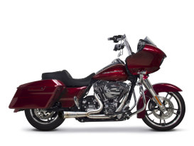 Turnout Stainless Steel Shorty Comp-S 2-into-1 Exhaust. Fits Touring 2009-2016.
