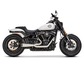Stainless Steel Comp-S 2-into-1 Exhaust with Carbon Fiber End Cap. Fits most 2018up Softail non-240 tyre models.