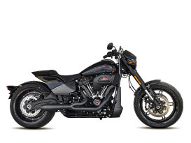 Megaphone Gen II 2-into-1 Exhaust - Black. Fits Softail Breakout & Fat Boy 2018up & FXDR 2019up.
