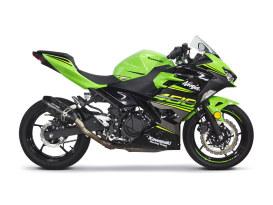 Black Series Carbon Slip-On Muffler. Fits Kawasaki Ninja 400 2018up & Z400 2019up.