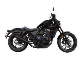 Comp-S Slip-On Muffler - Black with Carbon Fiber End Cap. Fits Honda CMX / Rebel 1100cc 2021up.