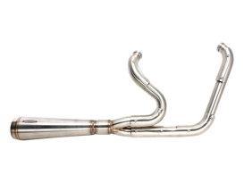 Assault 2-into-1 Exhaust - Stainless Steel. Fits Dyna 2006-2017.
