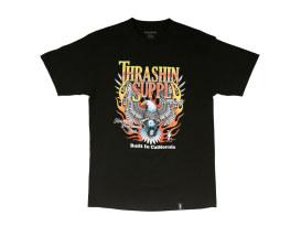 Thrashin Black & Flame T-Shirt. Medium.