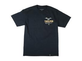 Thrashin Navy Handlebar T-Shirt. 2X-Large.