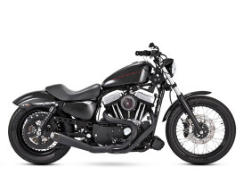 Slant Carbon Ops 2-into-1 Exhaust with Black Finish. Fits Sportster 2014up.