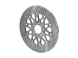 11.8in. Front Disc Rotor - Bright Stainless Steel. Fits Dyna 2006-2017, Softail 2015up, Sportster 2014up & Touring 2008up.