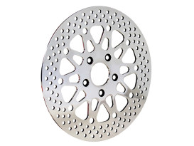 11.5in. Rear Disc Rotor - Polished Stainless Steel. Fits Big Twin 1981-1999 & Sportster 1979-1999.