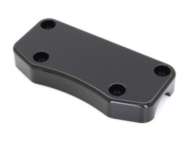 Handlebar Smooth Top Clamp with Exposed Bolts - Gloss Black.