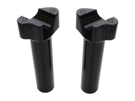 6in. Tall Risers with 1-1/4in. Thick Base - Gloss Black. Fits 1in. Handlebar.