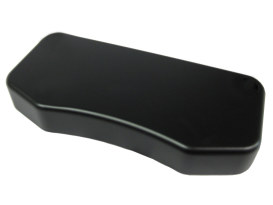 Handlebar Top Clamp with Hidden Bolts. Smooth Black Finish