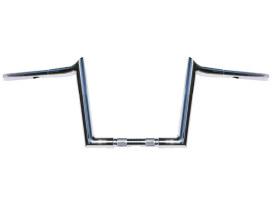 10in. x 1-1/4in. Chubby Hooked Ape Hanger Handlebar - Chrome.