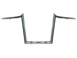 12in. x 1-1/4in. Chubby Hooked Ape Hanger Handlebar - Chrome.