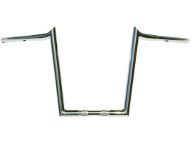 14in. x 1-1/4in. Chubby Hooked Ape Hanger Handlebar - Chrome.
