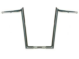 16in. x 1-1/4in. Chubby Hooked Ape Hanger Handlebar - Chrome.