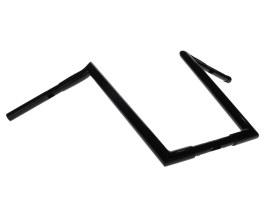 16in. x 1-1/4in. Chubby Hooked Ape Hanger Handlebar - Gloss Black.