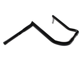 14in. x 1-1/4in. Chubby Bagger Hooked Ape Hanger Handlebar - Gloss Black. Fits Touring 1996 up with Fairing.