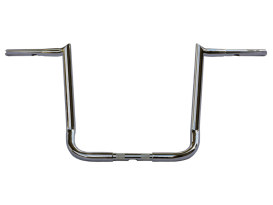 16in. x 1-1/4in. Chubby Bagger Hooked Ape Hanger Handlebar - Chrome. Fits Touring 1996up with Fairing.