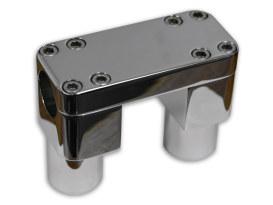 3in. Tall Savage Risers with Top Clamp - Chrome. Fits 1-1/4in. Handlebar.