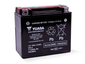 Premium Quality AGM Motorcycle Battery. Fits Softail 1991up, Dyna 1991-2017, Sporster 1997-2003, V-Rod 2007-2017, Victory 2002up & Indian 2014up Models.